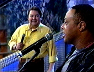 Joanilson Rodrigues com Fausto Silva