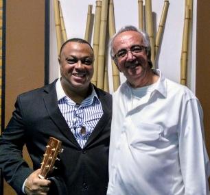 Joanilson Rodrigues com Alfredo Boulos júnior Show Para Editora FTD no South Place em São Paulo_